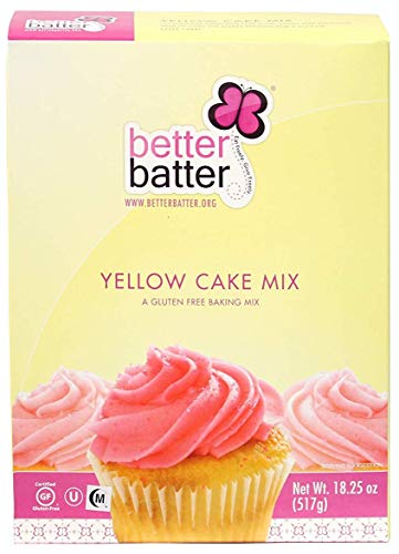 Batter Batter Gluten Free Cake Mix - GF Baking Mix for Cakes and Cupcakes - Free From the Top 11 Allergens - Vegan, Kosher, Dye-Free, Non-GMO - Gluten-Free Yellow Cake Mix, 18.25 oz