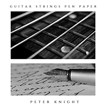 Guitar Strings Pen Paper