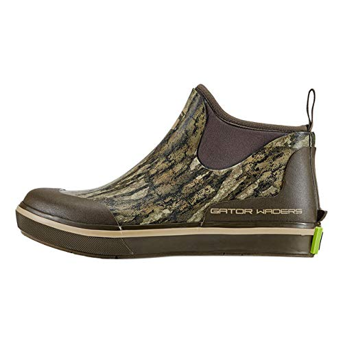 Gator Waders Womens Camp Boots, Mossy Oak Bottomland, Size 10 - Ankle High Waterproof Shoes for Rain and Mud, Fishing, Hunting, and Camp Wear