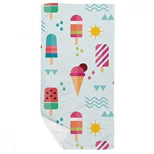 DIYthinker Sonne Bergfluss Popsicle süße EIS-Bad-Tuch weichen Waschlap Kulli Waschlap Kulli 35X70Cm 35 x 70cm Mehrfarbig
