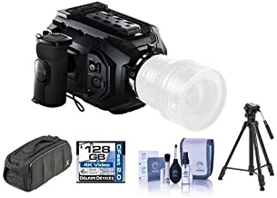 Blackmagic Design URSA Mini 4K Camera with EF Mount, 4K Super 35 Sensor - Bundle with 128GB CFAST Card, Video Bag, Video Tripod, Cleaning Kit