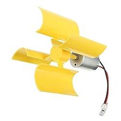 SYWAN 360 ° Micro Wind Generator Vertikale Turbinenblätter Mini DC Motor für DIY