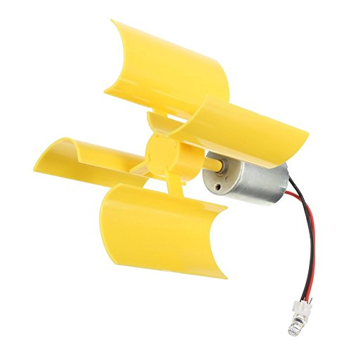 DC 0.1V-5.5V 100-6000RPM Micro Vertical Wind Turbines, Small Motor Blades Generator for DIY (1pc)
