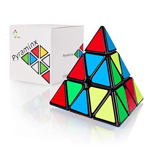 CUBIDI® - Zauberwürfel Pyramide - Spannender Brainteaser für Kinder und Erwachsene (mit Sticker)