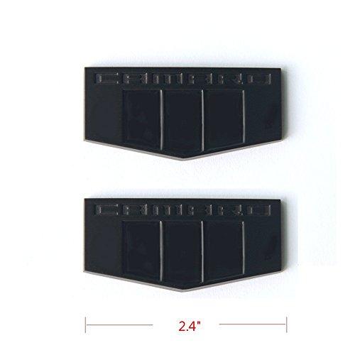 2x Black SS Emblems Badge Sticker Ffor Camaro Silverado Series Matte