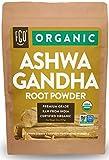Organic Ashwagandha Root Powder | 32oz Resealable Kraft Bag (2lb) | 100% Raw from India | by FGO