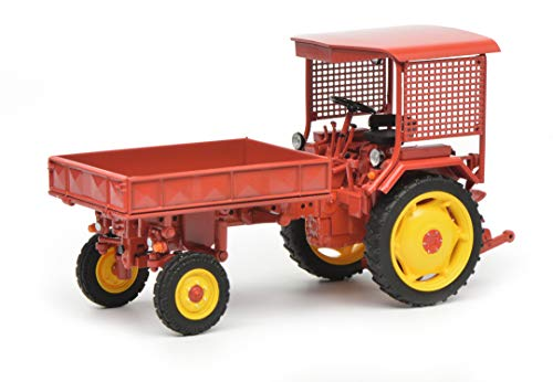 Schuco 450782800 - vooruitgang RS09 - GT 124 met platform (beweegbaar), modelauto, 1:32, rood