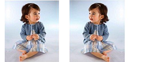 KLITZEKLEIN Kleid, Mädchenkleid, blau, tolle Qualität, ohne Jacke, Gr. 80-92 (80)