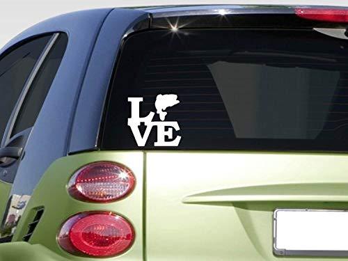 Bass love Sticker 8' Vinyl angler bass boat fishing net rod bait reel window Sticker