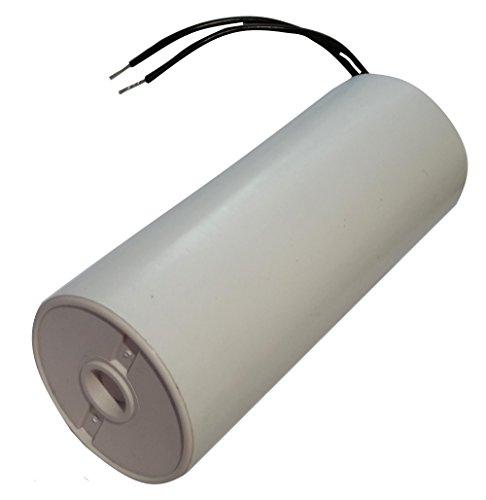 AERZETIX: Condensatore di avviamento permanente di lavoro per motore 40µF 450V con cavo 10cm Ø45x114mm ±10% 10000h C18737