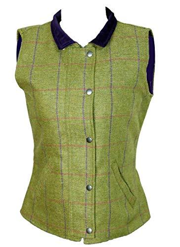 Chaleco acolchado para mujer Game Country Wear Tweed Verde/Púrpura