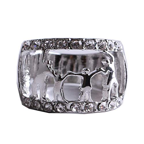 JINGJING Familien-Ring Schmuck Muttertag Geschenkring Damen Ring,White,8