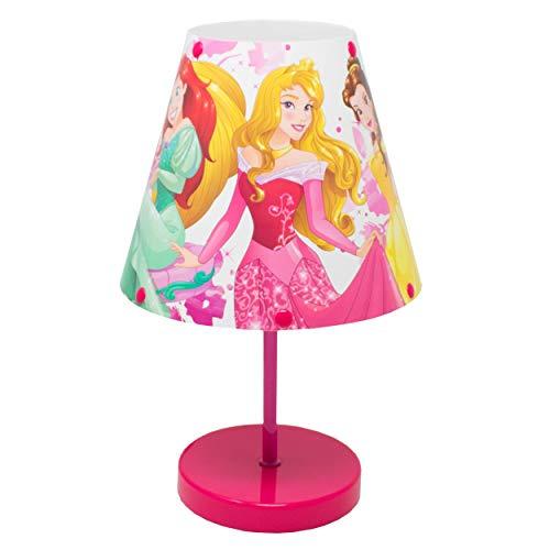 Preisvergleich Produktbild I-CHOOSE LIMITED Disney Prinzessin Nachttischlampe für Kinderzimmer mit Sanfter und Gleichmäßiger Beleuchtung Lieferung mit UK-Stecker