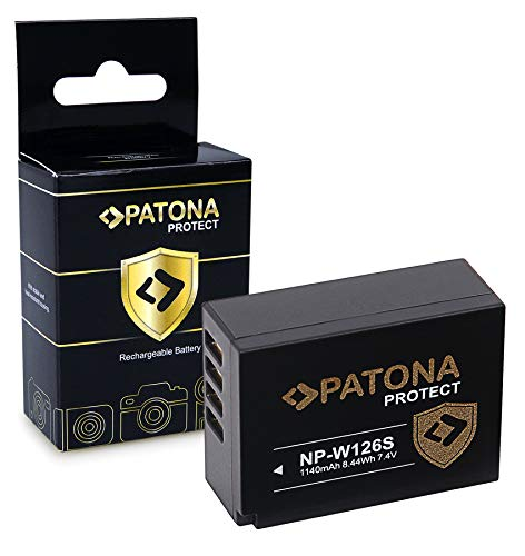 PATONA Protect V1 Batterie NP-W126S, NTC Compatible avec Fujifilm FinePix VPB-XT3 HS50EXR XPro-3