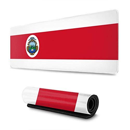 Alfombrilla de ratón con la Bandera de Costa Rica, Alfombrilla para Juegos, Alfombrilla de Goma Antideslizante Gruesa para el Trabajo y el Juego, 11,8 x 31,5 Pulgadas