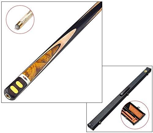 K.W Taco de Billar, Hecho a Mano 3/4 Barra a través de 10mm Tip o Ruso Negro 8 Cue Americana de Billar Bar con el Amortiguador de Goma del Caso Cue Lili