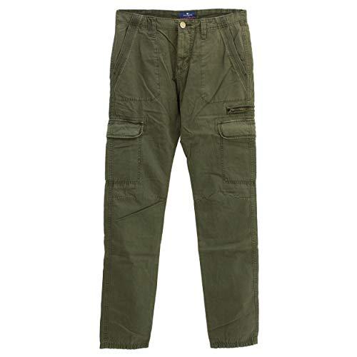 Tom Tailor, Travis Regular, Herren Herren Jeans Hose Twill Dunkelolivegrün W 33 L 34 [22523]