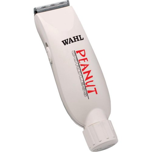 Wahl Professional Peanut Cordless Clipper/Trimmer #8663, White - Great On-the-Go Trimmer for Barbers and Stylists - Powerful Rotary Motor