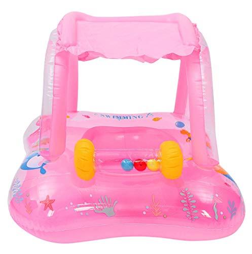 EOZY-Anillo de Natación para Bebé Flotador Bebe de Piscina Flotador Bebe Cuello Profesional Flotador Niño Niña 6 Meses-3 años (Rosa, Tamaño único)