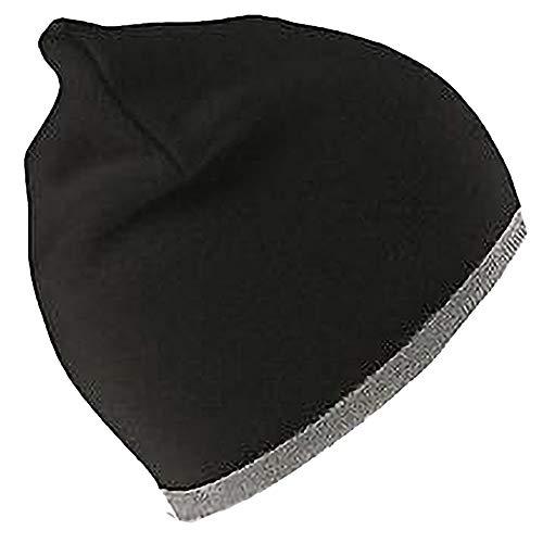 Result - Bonnet réversible - Unisexe (Taille Unique) (Noir/Gris)