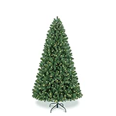 🌳Pre-lit Tree - Our christmas tree is pre-lit with 330 LED lights,which includes 3 kind of Lighting Models(including Steady on ,Sequential ,Flash), filling your Christmas with warmth. These led lights are energy-efficient and long lasting.If properly...