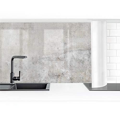 Bilderwelten Küchenrückwand Folie selbstklebend Shabby Betonoptik 60 x 150 cm Premium