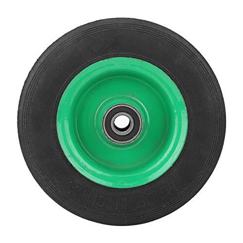 Neumático sólido para carro de 6 pulgadas, rueda resistente al desgaste Neumático para carro de grado industrial Caucho antigolpes 100 kg con rodamiento 6001-RS incorporado para ferretería industrial