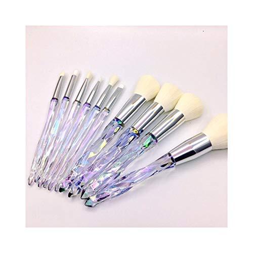 Sets de pinceaux de Maquillage Maquillage Brush Set 10 Poignée en Plastique Maquillage Brush Set Brush Outils De Beauté Portable Beauté Brush Maquillage Brush 3 Couleur en Option
