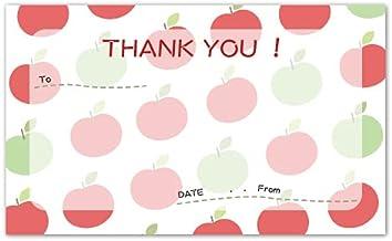 サンクスカード【0127:りんご】(名刺サイズ)1セット100枚
