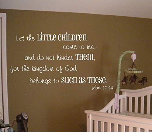Laat de kleine kinderen bij mij komen Mark 1014 Vinyl Wall Decal B030