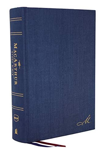 NKJV MacArthur Study Bible, The, 2nd Edition, Cloth over Board, Blue, Comfort Print: Unleashing God's Truth One Verse at a Time