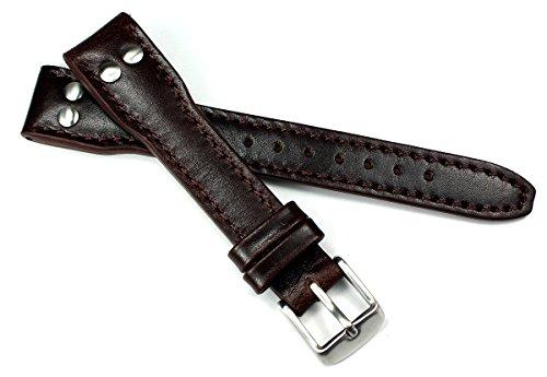 Sulla - Cinturino per orologio da uomo in pelle, modello Pilot IW, 18 mm,...