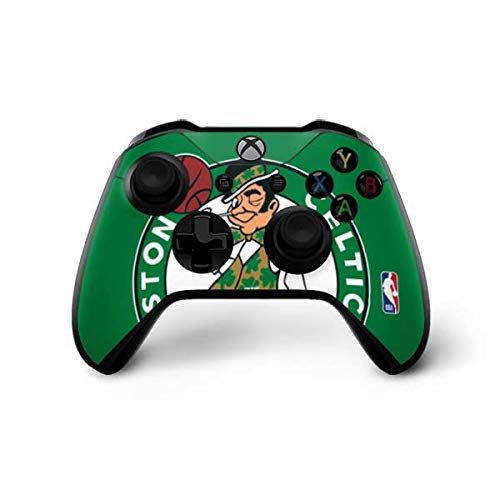 Skinit Decal Gaming Skin Compatible with Xbox One X Controller - Officially Licensed NBA Boston Celtics Large Logo Design