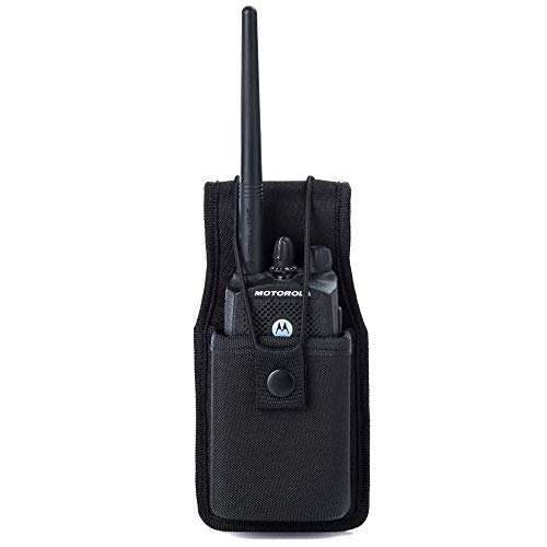 Universal Radio Case Two Way Radio Holder Universal Pouch for Walkie Talkies Nylon Holster Accessories for Motorola MT500, MT1000, MTS2000 and Similar Models by Luiton(1 Pack)