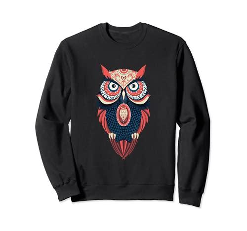 Diseño nativo americano del búho de mandala Sudadera