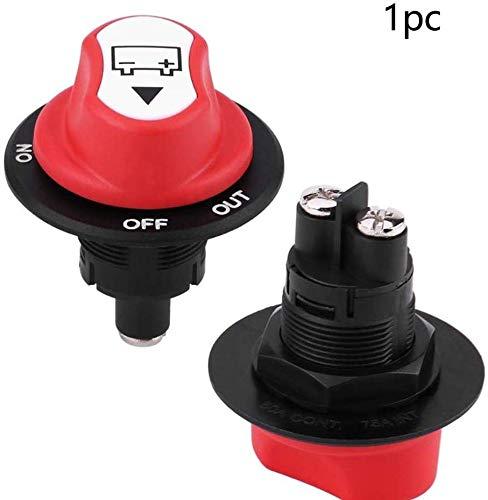 Ganquer DC50V 50A Coche Barco Corte Camión Fácil de Instalar Impermeable Desconectador de Batería Profesional Duradero Accesorios - Rojo + Negro, Free Size