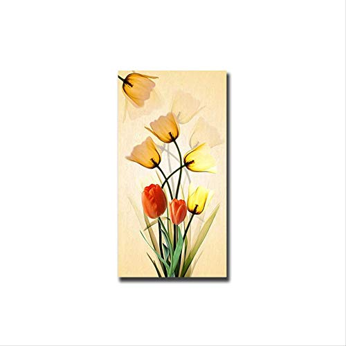 Bloemen Canvas Schilderij Abstract Scandinavië Posters En Prints Wall Art Pictures Voor Home Decor Woonkamer Posters 40x80cm Geen lijst