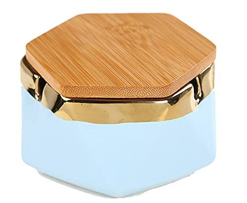 FGWE Cenicero de cerámica de Moda, Personalidad Creativa Tendencia cenicero, hoteles domésticos cenicero,Blue