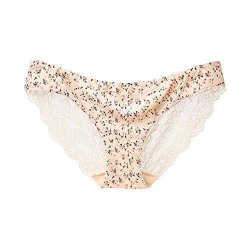 Frauen Spitze Höschen Nahtlose Unterwäsche Slips Mädchen Leopard Ice Silk Bikini Baumwolle Schritt Transparente Dessous Unterhose-E_M