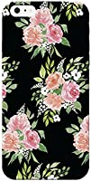 Watercolor Flower Black Pictural Design Printed Lightweight Hard Plastic Phone Case for iPhone Se