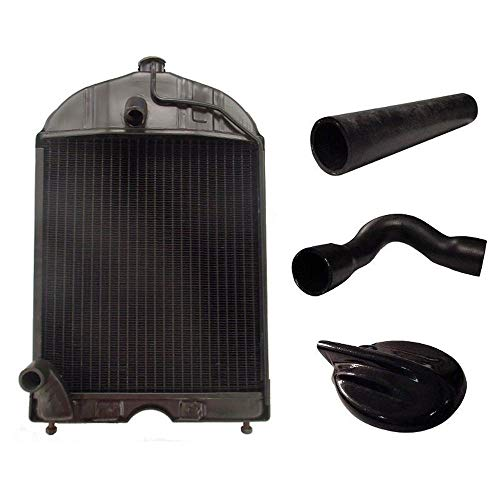 86551430 Restoration Quality Radiator with Cap and Hoses Fits Ford 2N 8N 9N