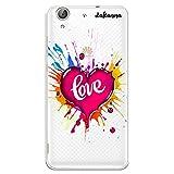dakanna Funda para [ Huawei Y6 II - Honor 5A ] de Silicona Flexible, Dibujo Diseño [ Corazón Watercolor con Frase Love ], Color [Fondo Transparente] Carcasa Case Cover de Gel TPU para Smartphone