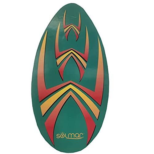 Acan Tabla de Surf Skimboard de Madera 94 x 50 cm, Aprender a Surfear, mar, Playa, diseño Aleatorio