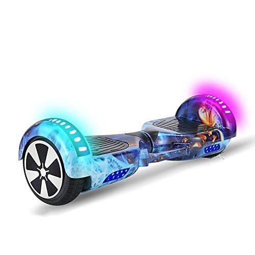 AjAC Hoverboard van 6,5 inch met kleurrijk ledlicht, auto-balacing elektrische scooter, geïntegreerde bluetooth-luidspreker, voor kinderen en volwassenen