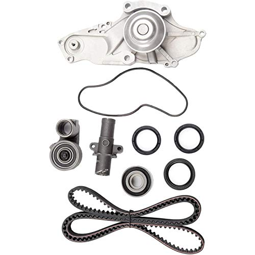 TKH002 Timing Belt Water Pump Kit for Acura MDX RDX RL TL TSX ZDX Honda Accord Crosstour Pilot Odyssey Ridgeline 3.0 3.2 3.5 3.7L 2003-2017 Replace# TCKWP329 TKH-002