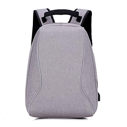 WQQ Laptop-Rucksack für 39,6 cm (15,6 Zoll) Laptop Schulrucksack mit USB-Ladeanschluss für Arbeit, Wandern, Reisen, Camping, für Herren, Oxford, 20-35 l, 42 x 15 x 30 cm Gr. 42, a