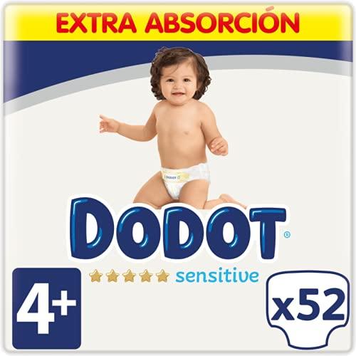 Dodot Sensitive Pañales Talla 4+, 52 Pañales - 10 - 15 kg