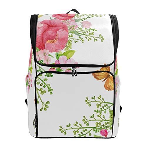 LISNIANY Rucksack,Nahtlose Muster Print Wallpaperfabric Papierblumen,Computertasche,Schultasche,große Kapazität