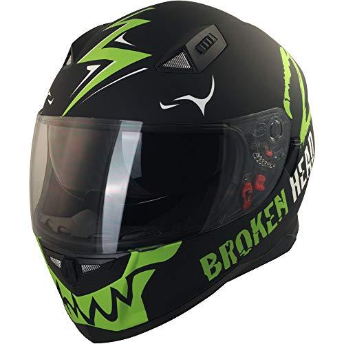 Broken Head Adrenalin Therapy II matt (M 57-58 cm) Motorradhelm – Helm grün – Integralhelm - 2