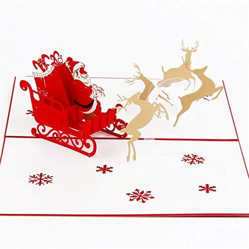 Wicemoon 1PC Carte Pop Up 3D Carte de Voeux pour Anniversaire Mariage Noël Forme de Montgolfière et Couple Romantique avec Enveloppe